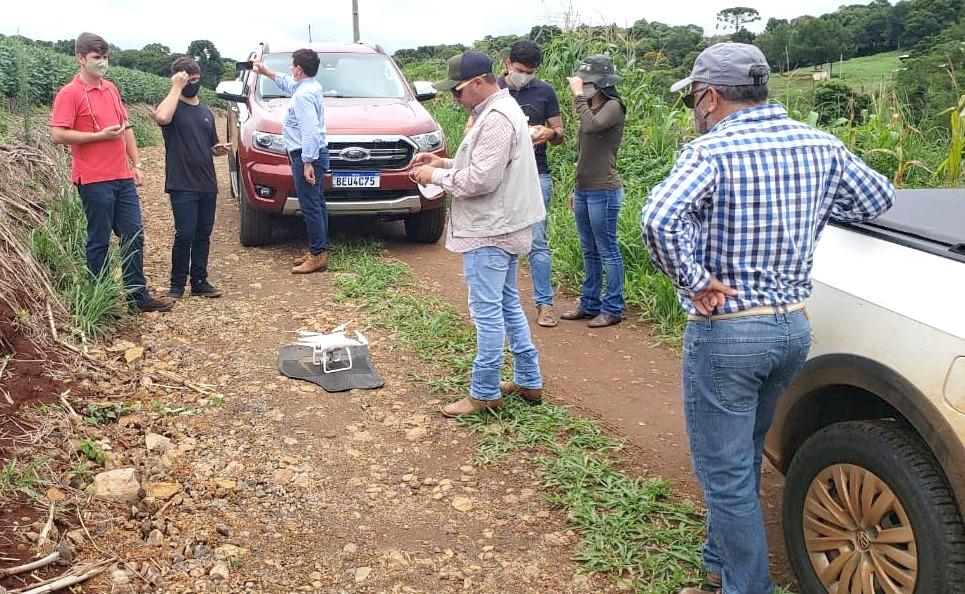 Drone pode ser utilizado para tirar fotos aéreas das propriedades